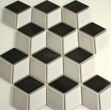 48x48mm Cube Mixed Gloss Porcelain Mosaic