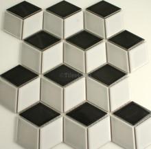 48x48mm Cube Mixed Gloss Porcelain Mosaic