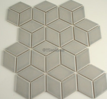 48x48mm Cube Light Grey Porcelain Mosaic