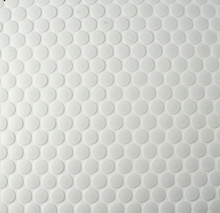 Matt White Penny Round Mosaic Tiles 19mm