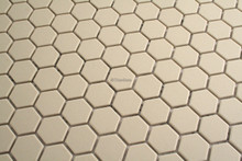 23mm Unglazed white porcelain hexagonal mosaic