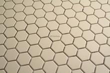 23mm Unglazed white porcelain hexagonal mosaic
