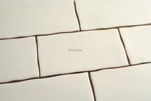 touch satin white subway wall tile
