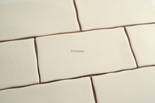 touch cream gloss subway wall tile 75x150mm