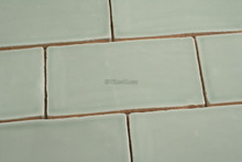 300x75mm Handmade style menta subway wall tile