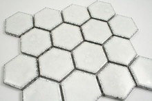 Antique White Hexagonal Mosaic Tile