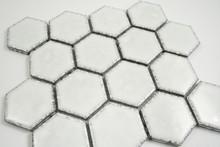Antique White Hexagonal Mosaic Tile