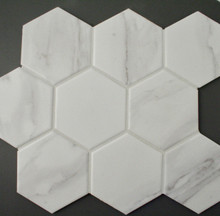 carrara porcelain mosaic 95mm