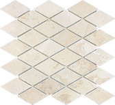 Tumbled Berkshire Crema 2x2 Diamond Mosaics