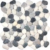 Zen Round Pebble Mosaic - Tranquil Cool Blend