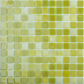 "LEMON LIME • Lux Collection by Vidrepur • Recycled 1"" x 1"" Mosaic Glass Tiles"
