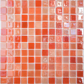 "ORANGE BLOSSOM • Lux Collection by Vidrepur • Recycled 1"" x 1"" Mosaic Glass Tiles"