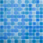 "BLUE LAGOON • Lux Collection by Vidrepur • Recycled 1"" x 1"" Mosaic Glass Tiles"