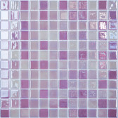 "PINK PASSION • Lux Collection by Vidrepur • Recycled 1"" x 1"" Mosaic Glass Tiles"