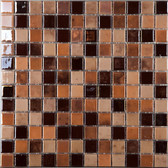 "MAPLE SYRUP • Lux Collection by Vidrepur • Recycled 1"" x 1"" Mosaic Glass Tiles"