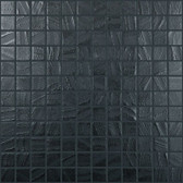 "BLACK WATER • Arts Collection by Vidrepur • Recycled 1"" x 1"" Mosaic Glass Tiles"