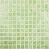 "BRUSHED GREEN / YELLOW • Deco Collection by Vidrepur • Recycled 1"" x 1"" Mosaic Glass Tiles"