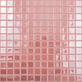 "PINK IRIDESCENT • Deco Collection by Vidrepur • Recycled 1"" x 1"" Mosaic Glass Tiles"
