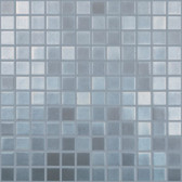 "STAINLESS STEEL • Deco Collection by Vidrepur • Recycled 1"" x 1"" Mosaic Glass Tiles"