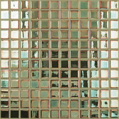 """JADE IRIDESCENT • Deco Collection by Vidrepur • Recycled 1"""" x 1"""" Mosaic Glass Tiles"""