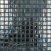 "BLACK IRIDESCENT • Titanium Collection by Vidrepur • Recycled Mosaic 1"" x 1"" Glass Tiles"