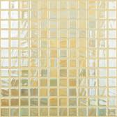 "BRUSHED LEMON IRIDESCENT • Titanium Collection by Vidrepur • Recycled Mosaic 1"" x 1"" Glass Tiles"