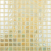 "BRUSHED LEMON IRIDESCENT • Titanium Collection by Vidrepur • Recycled Mosaic 1"" x 1"" Glass Tiles"