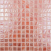 "BRUSHED PEACH IRIDESCENT • Titanium Collection by Vidrepur • Recycled Mosaic 1"" x 1"" Glass Tiles"