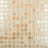 "BRUSHED SAND IRIDESCENT • Titanium Collection by Vidrepur • Recycled Mosaic 1"" x 1"" Glass Tiles"