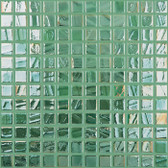 "GREEN IRIDESCENT • Titanium Collection by Vidrepur • Recycled Mosaic 1"" x 1"" Glass Tiles"
