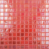 """RED IRIDESCENT • Titanium Collection by Vidrepur • Recycled Mosaic 1"""" x 1"""" Glass Tiles"""