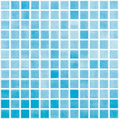 "FOG TURQUOISE BLUE • Colors Collection by Vidrepur • Recycled Mosaic 1"" x 1"" Glass Tiles"