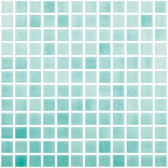 "FOG CARIBBEAN GREEN • Colors Collection by Vidrepur • Recycled Mosaic 1"" x 1"" Glass Tiles"