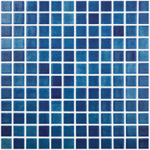"FOG NAVY BLUE • Colors Collection by Vidrepur • Recycled Mosaic 1"" x 1"" Glass Tiles"