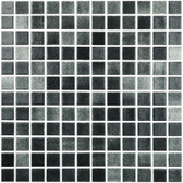 "FOG BLACK • Colors Collection by Vidrepur • Recycled Mosaic 1"" x 1"" Glass Tiles"