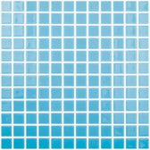 "TURQUOISE BLUE • Colors Collection by Vidrepur • Recycled Mosaic 1"" x 1"" Glass Tiles"