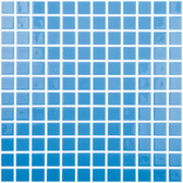 "CELESTIAL BLUE • Colors Collection by Vidrepur • Recycled Mosaic 1"" x 1"" Glass Tiles"