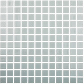 "CLEAR GREY • Colors Collection by Vidrepur • Recycled Mosaic 1"" x 1"" Glass Tiles"