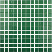 "DARK GREEN • Colors Collection by Vidrepur • Recycled Mosaic 1"" x 1"" Glass Tiles"