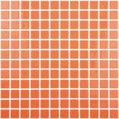 "ORANGE • Colors Collection by Vidrepur • Recycled Mosaic 1"" x 1"" Glass Tiles"