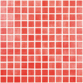 "FOG RED • Colors Collection by Vidrepur • Recycled Mosaic 1"" x 1"" Glass Tiles"