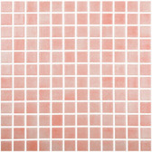 """FOG SALMON • Colors Collection by Vidrepur • Recycled Mosaic 1"""" x 1"""" Glass Tiles"""