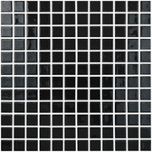 "BLACK • Colors Collection by Vidrepur • Recycled Mosaic 1"" x 1"" Glass Tiles"