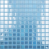 """DARK BLUE • GLOW IN THE DARK • Luminescent Fire Glass Collection by Vidrepur • Recycled Mosaic 1"""" x 1"""" Glass Tiles"""