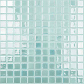 "LIGHT BLUE • GLOW IN THE DARK • Luminescent Fire Glass Collection by Vidrepur • Recycled Mosaic 1"" x 1"" Glass Tiles"