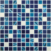 "MIAMI MIX • Mixes Collection by Vidrepur • Recycled Mosaic 1"" x 1"" Glass Tiles"