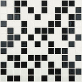 "CHESS • Mixes Collection by Vidrepur • Recycled Mosaic 1"" x 1"" Glass Tiles"