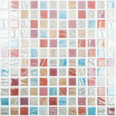 "DECO 7 • Mixes Collection by Vidrepur • Recycled Mosaic 1"" x 1"" Glass Tiles"