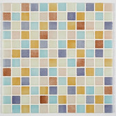 "PASTEL MIX • Mixes Collection by Vidrepur • Recycled Mosaic 1"" x 1"" Glass Tiles"