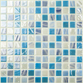 "ICE MIX • Mixes Collection by Vidrepur • Recycled Mosaic 1"" x 1"" Glass Tiles"